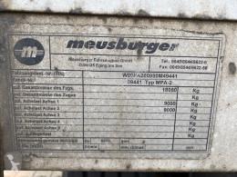 Voir les photos Remorque Meusburger MPA-2 MPA-2, Stapleraufnahme