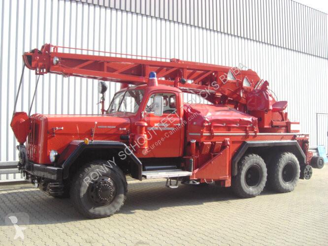 Voir les photos Véhicule utilitaire nc 250D22 KW 16 MAGIRUS URANUS 250D22 KW 16 Feuerwehr Kranwagen