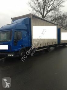 Camión remolque lona corredera (tautliner) usado Iveco ML80E21 Jumbozug G.Haus Klima
