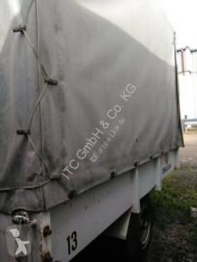 Moessbauer Hänger mit Flaschenzug /Kran/Ladehilf trailer used tarp