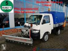 Piaggio Pfau S 90 Allrad Winterdienst Pflug+Salzstreuer használt haszongépjármű ponyvával felszerelt platós