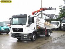 MAN three-way side tipper truck TGL TG-L PK7000+Greiferst Kipper Meiller