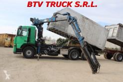 Camion remorque Volvo FM 12 420 RIBALTABILE POSTERIORE GRU benne occasion