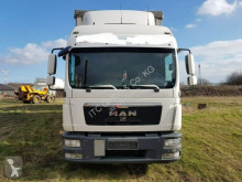 Lastbil med släp flexibla skjutbara sidoväggar MAN TGL8.250 G.Haus/2xBett Klima AHK