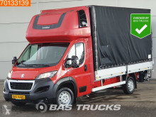 Peugeot Boxer 2.0 Blue HDI 163PS Pritsche Plane Ladebordwand Parking heater 20m3 A/C cassone usato