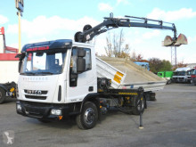 Iveco EuroCargo 80 E 18 2-Achs Kipper Kran Greiferst. truck used three-way side tipper