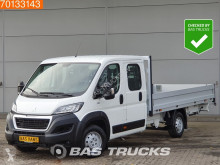 Peugeot Boxer 2.0 HDI 163PK Airco Trekhaak 4m lengte Open Laadbak Pritsche A/C Double cabin Towbar used flatbed van