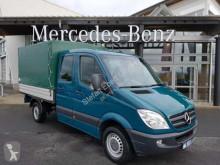 Mercedes Spinter 316 CDI DoKa Pritsche/Plane AHK Stdheiz nyttobil med flak häckar begagnad