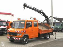 Camião Mercedes Vario 815 D 2-Achs Kipper Heckkran Hiab 052 bi-basculante usado