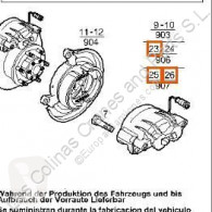 Iveco Daily Étrier de frein Pinza Freno Eje Delantero Izquierdo II 35 C 12 , 35 pour véhicule utilitaire II 35 C 12 , 35 S 12 pièces détachées autres pièces occasion
