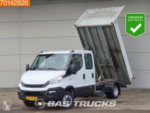 Nyttobil med flak Iveco Daily 35C14 Kipper DC Leder 3500kg trekhaak Benne Tipper Double cabin Towbar