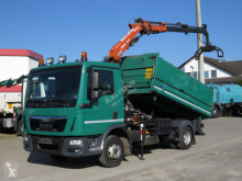 MAN TGL TG-L 8.180 2-Achs Kipper Kran Greiferst. truck used three-way side tipper