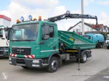 MAN hátra és két oldalra billenő kocsi teherautó TGL TG-L 8.180 2-Achs Kipper Kran Greiferst.