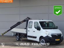 Opel Movano 2.3 DTI Open laadbak HIAB 017 T-2 Laadkraan Kraan Trekhaak A/C Double cabin Towbar dostawcza platforma używana