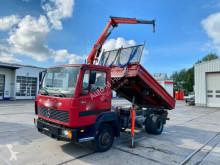 Camión volquete volquete trilateral Mercedes LK LK 814 K Meiller Kipper Palfinger Kran