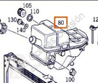 Reservedele til lastbil nc Amortisseur de capot Compresor Aire Acond pour camion MERCEDES-BENZ ACTROS 2535 L brugt