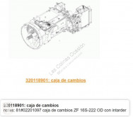 Peças pesados transmissão caixa de velocidades MAN TGA Boîte de vitesses ZF 16S-222-OD pour tracteur routier 18.460 FC, FLC, FRC, FLLC, FLLC/N, FLLW, FLLRC, FLLRW