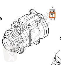 Pièces détachées PL Iveco Stralis Compresseur de climatisation pour camion AS 440S48 occasion