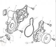Pièces détachées PL Renault Premium Pompe de refroidissement moteur Bomba Refrigeracion pour tracteur routier 2 Lander 440.18 occasion