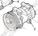DAF Compresseur de climatisation Acond pour tracteur routier XF 105 FA 105.460 LKW Ersatzteile