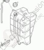 Repuestos para camiones sistema de refrigeración vaso de expansión Iveco Eurocargo Réservoir d'expansion pour camion 80EL17 TECTOR