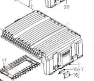 Акумулатор DAF Boîtier de batterie Tapa Baterias pour tracteur routier XF 105 FA 105.510