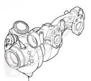 Reservdelar lastbilar DAF Turbocompresseur de moteur pour camion XF 105 FA 105.510 begagnad