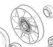 Repuestos para camiones Iveco Stralis Ventilateur de refroidissement pour camion AD 260S31, AT 260S31 usado