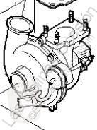 Pièces détachées PL Iveco Daily Turbocompresseur de moteur pour camion III 35C10 K, 35C10 DK occasion