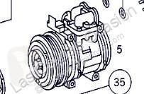Pièces détachées PL Compresseur de climatisation pour camion MERCEDES-BENZ CLASE G (W461) 290 GD/G 290 D (461.337, 461.338) occasion