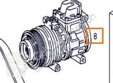 Náhradní díly pro kamiony Compresseur de climatisation pour camion MERCEDES-BENZ ATEGO 923,923 L použitý