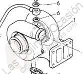 Peças pesados Renault Premium Turbocompresseur de moteur pour camion Route 300.18 usado