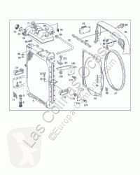 Repuestos para camiones sistema de refrigeración OM Radiateur de refroidissement du moteur pour camion MERCEDES-BENZ MK / SK 441 LA 2527 BM 653 6X4 [11,0 Ltr. - 249 kW V6 Diesel ( 441 LA)]