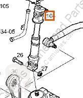 Crémaillère de direction Iveco Stralis Crémaillère de direction Columna Direccion AS 440S48 pour tracteur routier AS 440S48