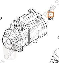 Repuestos para camiones Iveco Stralis Compresseur de climatisation Compresor Aire Acond AS 440S48 pour camion AS 440S48 usado