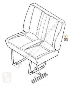 Cabine / carrosserie Iveco Daily Siège Asiento Delantero Derecho I 40-10 W pour camion I 40-10 W