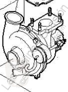 Pièces détachées PL Iveco Daily Turbocompresseur de moteur Turbo III 35C10 K, 35C10 DK pour camion III 35C10 K, 35C10 DK occasion