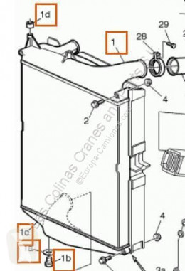 Repuestos para camiones Volvo FM Refroidisseur intermédiaire Intercooler 7 7/290 pour camion 7 7/290 sistema de refrigeración usado