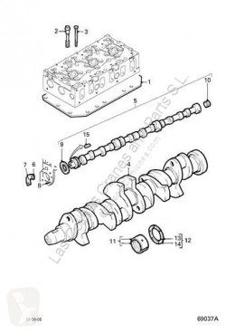 Peças pesados motor cabeça do motor DAF Culasse Culata 95 XF FA 95 XF 430 pour tracteur routier 95 XF FA 95 XF 430