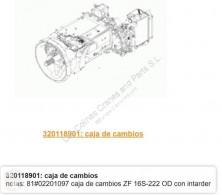 Repuestos para camiones MAN TGA Boîte de vitesses ZF Caja Cambios ual 18.460 FC, FLC, FRC, FLLC, FLLC/N, F pour tracteur routier 18.460 FC, FLC, FRC, FLLC, FLLC/N, FLLW, FLLRC, FLLRW transmisión caja de cambios usado