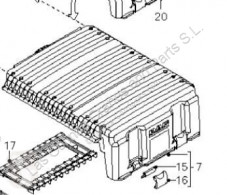 Akumulator DAF Boîtier de batterie Tapa Baterias XF 105 FA 105.510 pour tracteur routier XF 105 FA 105.510