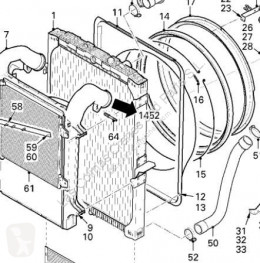 Vrachtwagenonderdelen DAF Radiateur de refroidissement du moteur Radiador XF 105 FA 105.510 pour tracteur routier XF 105 FA 105.510 tweedehands
