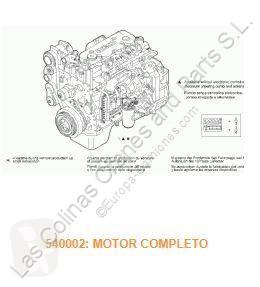 Repuestos para camiones motor Iveco Eurocargo Moteur Motor Completo tector Chasis (Modelo 75 E 15 pour camion tector Chasis (Modelo 75 E 15) [3,9 Ltr. - 110 kW Diesel]