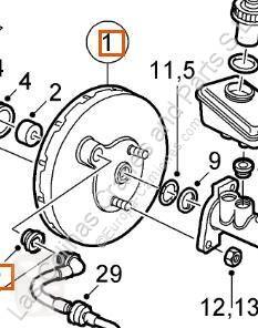 Disque de frein Disque de frein Servofreno Saab 9-3 Berlina (2003->) 2002 pour automobile Saab 9-3 Berlina (2003->) 2002