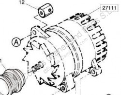 Ağır Vasıta yedek parça Renault Magnum Alternateur Alternador E.TECH 480.18T pour tracteur routier E.TECH 480.18T ikinci el araç