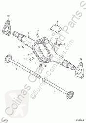 Reservdelar lastbilar DAF Palier Palier Derecho Serie XF105.XXX Fg 4x2 [12,9 Ltr. - 340 kW Di pour tracteur routier Serie XF105.XXX Fg 4x2 [12,9 Ltr. - 340 kW Diesel] begagnad
