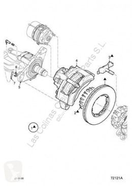 Pinça de travão DAF Étrier de frein Fuelle Pinza Freno Eje Delantero Derecho Serie XF105.XXX Fg pour tracteur routier Serie XF105.XXX Fg 4x2 [12,9 Ltr. - 340 kW Diesel]