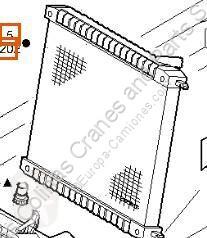 قطع غيار الآليات الثقيلة refroidissement Iveco Eurocargo Radiateur de refroidissement du moteur Radiador tector Chasis (Modelo 80 EL 17) [3, pour camion tector Chasis (Modelo 80 EL 17) [3,9 Ltr. - 125 kW Diesel]