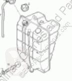 Repuestos para camiones sistema de refrigeración vaso de expansión Iveco Eurocargo Réservoir d'expansion Deposito Expansion tector Chasis (Modelo 80 pour camion tector Chasis (Modelo 80 EL 17) [3,9 Ltr. - 125 kW Diesel]