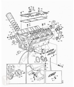 Repuestos para camiones motor bloque motor Scania Bloc-moteur Bloque Serie 4 (P/R 144 L)(1996->) FSA 460 (4X2) E2 [14 pour camion Serie 4 (P/R 144 L)(1996->) FSA 460 (4X2) E2 [14,2 Ltr. - 338 kW Diesel]